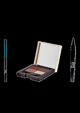 Pack Smokey Eyes: Eyeliner Vert + Palette Sourcils + Kajal Noir